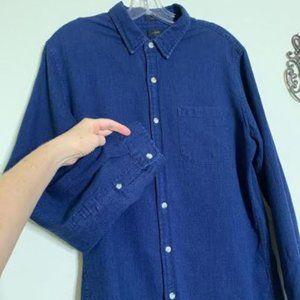 J Crew Cotton Slim Fit Chambray L/S Shirt Sz L